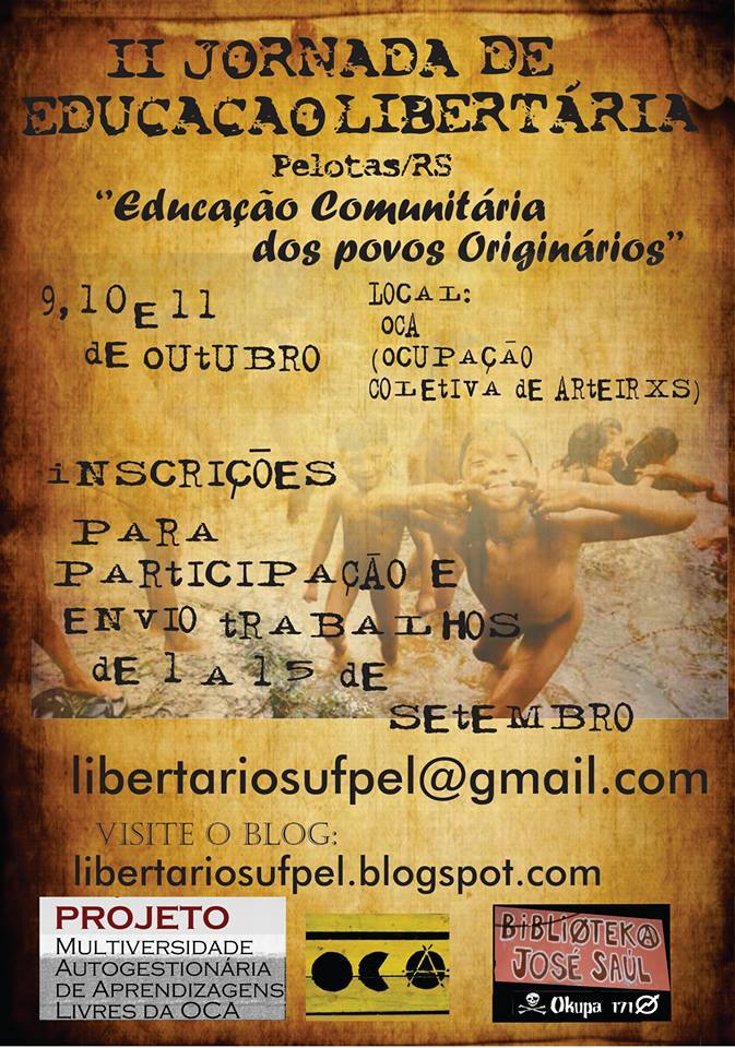 6960d901f3d5 II Jornada de Educação Libertária de Pelotas – anarcopunk.org